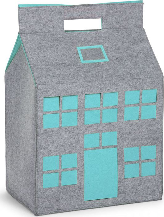 Childhome Vilten Toybag House - Mint Blue (UL)