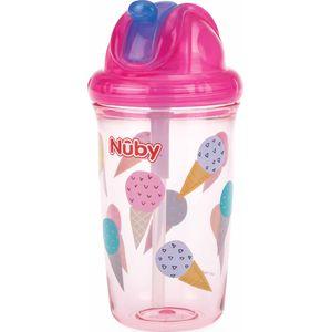 Nuby Flip-It Antilekbeker Met Flip Dop En Rietje - Ice Cream
