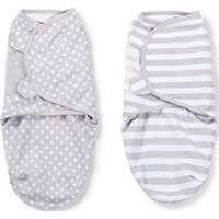 Swaddle Me Premium Small Grey Dot & Grey Stripe 2-pack - Summer