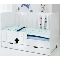 Quax Bedrail Cotbed Sunny - Wit  (dit artikel wordt geleverd zonder het bed)
