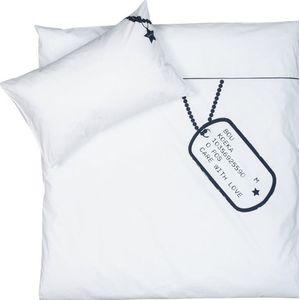 Koeka Dekbedovertrek Name Tag 100x135 - White (UL)