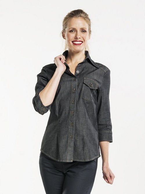 Black denim Blouse