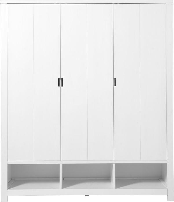 Bopita Hanglegkast 3-Deurs Basic Wood White Wash (exclusief bakken)