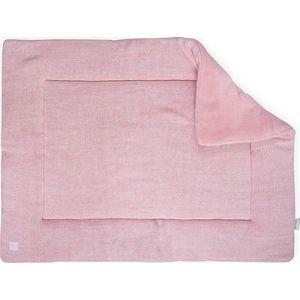 Jollein Boxkleed 80x100cm Melange Knit - Soft Pink