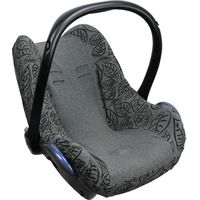 Dooky Seat Cover 0+ Autostoelhoes - Black Grey Leaves