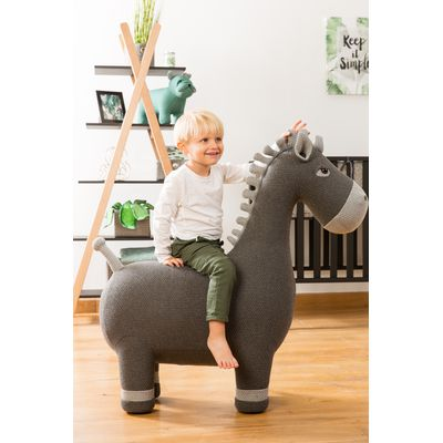 Vaco Horse Medium Gebreid - Grey
