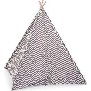 Tipi Tent Grijs Wit Zigzag - Childhome