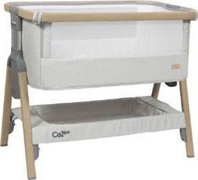 CoZee Bedside Wieg - Oak / Zilver
