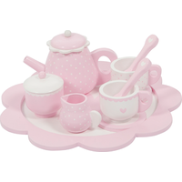 Little Dutch Houten Thee Servies Roze