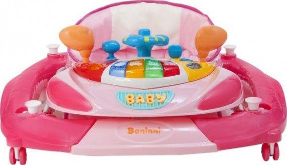 Baninni Loopstoeltje Met Schommelfunctie Rosco Pink Bij Babyhuis