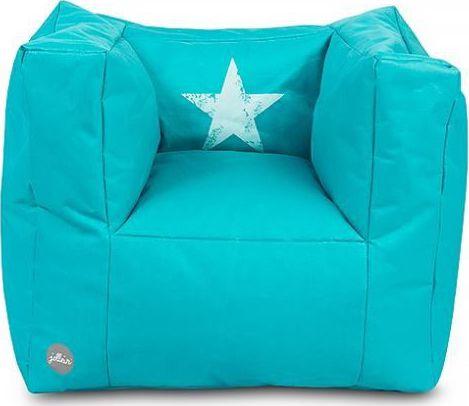 Jollein Kinderfauteuil Beanbag Faded Star - Aqua