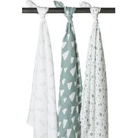 Swaddle Feather/Clouds Jade/Wit - Meyco