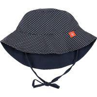 Lässig Zonnehoedje Omkeerbaar 6-18 maanden - Polka Dots Navy