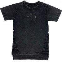 KMDB Shirt Korte Mouw Maat 80 Yankee - Zwart