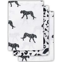 Jollein Hydrofiel Washandje Leopard - Black White