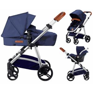 Born Lucky Rapido Kinderwagen incl Autostoeltje - Blauw