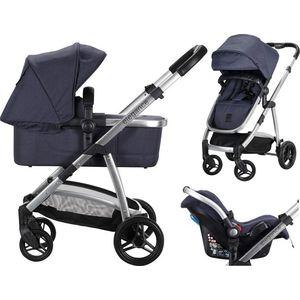 Born Lucky Elegance Kinderwagen incl. Autostoel - Navy