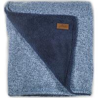 Jollein Deken 100x150cm Stonewashed Knit Teddy - Navy