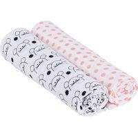Lässig Swaddle & Burp Blanket X- Large - Little Chums Mouse
