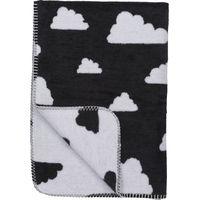 Ledikantdeken Little Clouds Zwart 120x150cm - Meyco