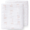 Fresk Swaddle Set 120x120cm Swan - Pale Peach