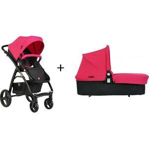 Topmark Kinderwagen Pure Black Frame - Pink (UL)