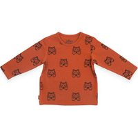 Jollein Shirt Lange Mouw 74/80 - Tiger Rust
