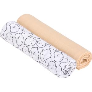 Lässig Swaddle & Burp Blanket X- Large - Little Spookies Peach