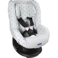 Dooky Seat Cover Groep 1 Autostoelhoes - Light Grey Crowns