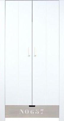 Bopita 2-Deurskast Medium White/Natural Wash NO657 - Basic Wood BabyFlex