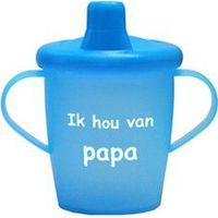 """Antilekbeker """"ik hou van papa"""" blauw"""