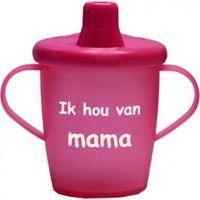 "Antilekbeker ""ik hou van mama"" roze"