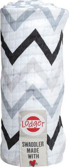 Hydrofiele Doeken Swaddler Limited Edition Print Zig Zag Black/White - Lodger