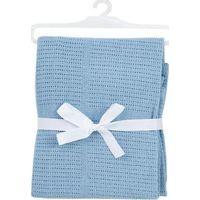Babydan Wiegdeken Gebreid - Blauw