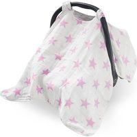 Autostoelkap Groep 0+ Little Star Pink - Jollein