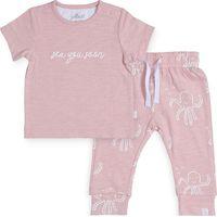 Jollein Broekje en T-Shirt 74/80 - Octopus Pink