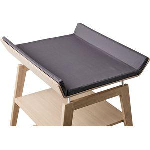Leander Linea Hoes Aankleedkussen - Dark Grey (excl. tafel)