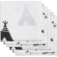Jollein Hydrofiele Luier Indians - Black&White (6pack)