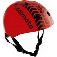 Kiddimoto Helm Tire Print Rood S