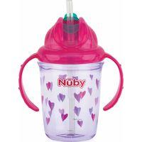 Nuby Flip-It Antilekbeker Met Handvatten En Rietje - Pink