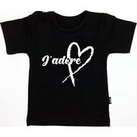 KMDB Shirt Korte Mouw Maat 62 J'adore - Zwart