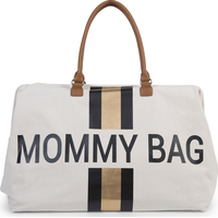Childhome Verzorgingstas Mommy Bag Big - Off White Stripes Black/Gold