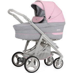 BebeCar Pack Ip-Op XL Kinderwagen - Grijs/Roze