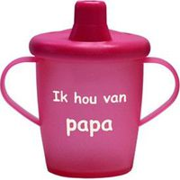 "Antilekbeker ""ik hou van papa"" roze"