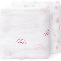 Fresk Swaddle Set 70x60cm Rainbow - Chintz Rose