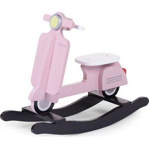 Childhome Rocking Scooter - Pink Zwart
