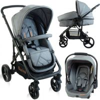Baninni Kinderwagen Nobel 3 in 1 BN113 Gray