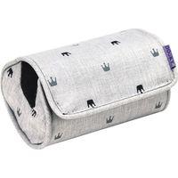 Dooky Arm Cushion Autostoel Armkussentje - Light Grey Crowns