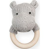 Jollein Rammelaar Bijtring Soft Knit Hippo - Light Grey