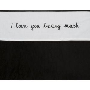 Ledikantlaken I Love You Beary Much Zwart - Meyco